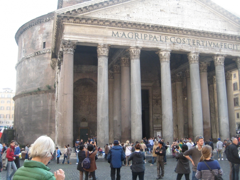 Pantheon outside.