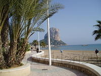 Calpe, een afterlunch wandeling langs de boulevard.
